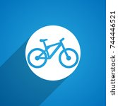 bicycle icon | Shutterstock . vector #744446521