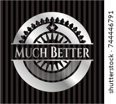 much better silver badge or... | Shutterstock .eps vector #744446791