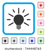 light bulb icon. flat grey...