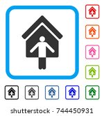 house owner wellcome icon. flat ...