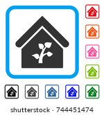 greenhouse building icon. flat... | Shutterstock .eps vector #744451474
