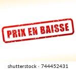 french translation for falling... | Shutterstock .eps vector #744452431