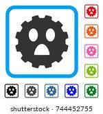 fear smiley gear icon. flat...   Shutterstock .eps vector #744452755