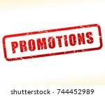 promotions text buffered on... | Shutterstock .eps vector #744452989
