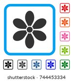 flower icon. flat gray...