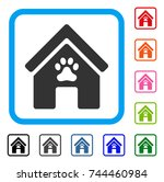doghouse icon. flat gray...