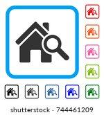 explore house icon. flat gray...