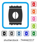coffee bean pack icon. flat...