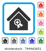 certified clinic building icon. ... | Shutterstock .eps vector #744463651