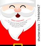 Santa Face With Beard Cartoon...