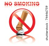no smoking sign | Shutterstock .eps vector #74446759