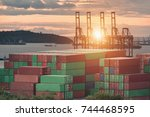 logistic business concepts ... | Shutterstock . vector #744468595