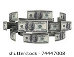 Dollars In Circulation Of Mone...