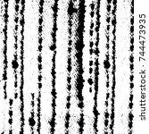 grunge black white. monochrome... | Shutterstock .eps vector #744473935