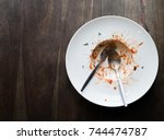 top view of an empty white... | Shutterstock . vector #744474787