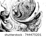 black and white grunge texture. ... | Shutterstock .eps vector #744475201