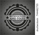 between love and hate realistic ... | Shutterstock .eps vector #744482755