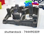 objects printed on metal 3d... | Shutterstock . vector #744490309