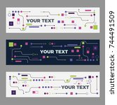 abstract technology banners for ... | Shutterstock .eps vector #744491509