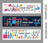 abstract technology banners for ... | Shutterstock .eps vector #744491515