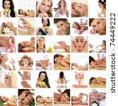 great collage made of 36...   Shutterstock . vector #74449222