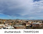 Overlooking downtown Helena, Montana with clouds in the sky