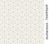 abstract seamless pattern.... | Shutterstock .eps vector #744495649