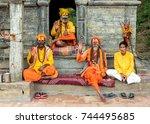 kathmandu    october 05  nepal  ... | Shutterstock . vector #744495685