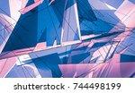 violet beautiful illustration...   Shutterstock . vector #744498199