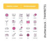 line icons set. entertainment...