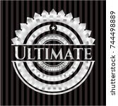 ultimate silver emblem or badge | Shutterstock .eps vector #744498889