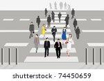vector illustration of people...   Shutterstock . vector #74450659