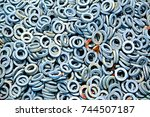 galvanized steel plain washer | Shutterstock . vector #744507187