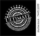 ultimate written on a blackboard | Shutterstock .eps vector #744511099