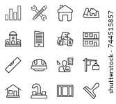 thin line icon set   graph ... | Shutterstock .eps vector #744515857