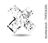 x marks .handwritten letter ....   Shutterstock .eps vector #744516181