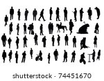 silhouettes of different people ... | Shutterstock . vector #74451670