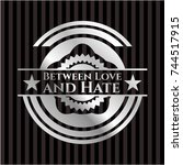 between love and hate silvery... | Shutterstock .eps vector #744517915