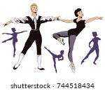 stock illustration. people in... | Shutterstock .eps vector #744518434