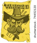 Cartoon Cowboy Wanted Poster...