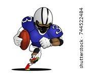 american football player...   Shutterstock .eps vector #744522484