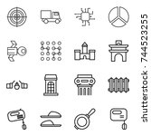 thin line icon set   target ... | Shutterstock .eps vector #744523255