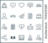 social icons set. collection of ... | Shutterstock .eps vector #744529285