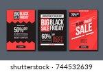 black friday sale design... | Shutterstock .eps vector #744532639