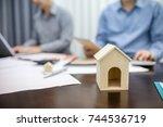 business people meeting....   Shutterstock . vector #744536719