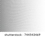 abstract halftone wave dotted... | Shutterstock .eps vector #744543469