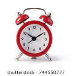 red old style alarm clock...   Shutterstock . vector #744550777