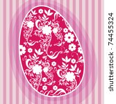 vector beautiful floral easter... | Shutterstock .eps vector #74455324