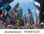 new york  ny  usa  may 7  times ...   Shutterstock . vector #744557125