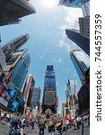 new york  ny  usa  may 7  times ...   Shutterstock . vector #744557359